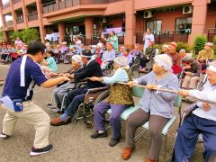 恒例の不老の郷フロアー対抗大運動会