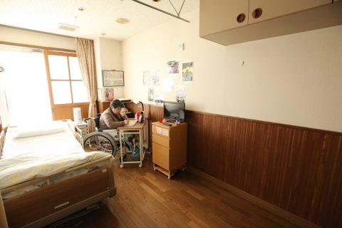個室(1人部屋)の風景です。