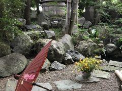 元結婚式場の庭
