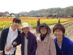 春の陽気に誘われて羽村市のチューリップ園へ
