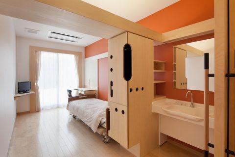 全室洗面所付きの個室